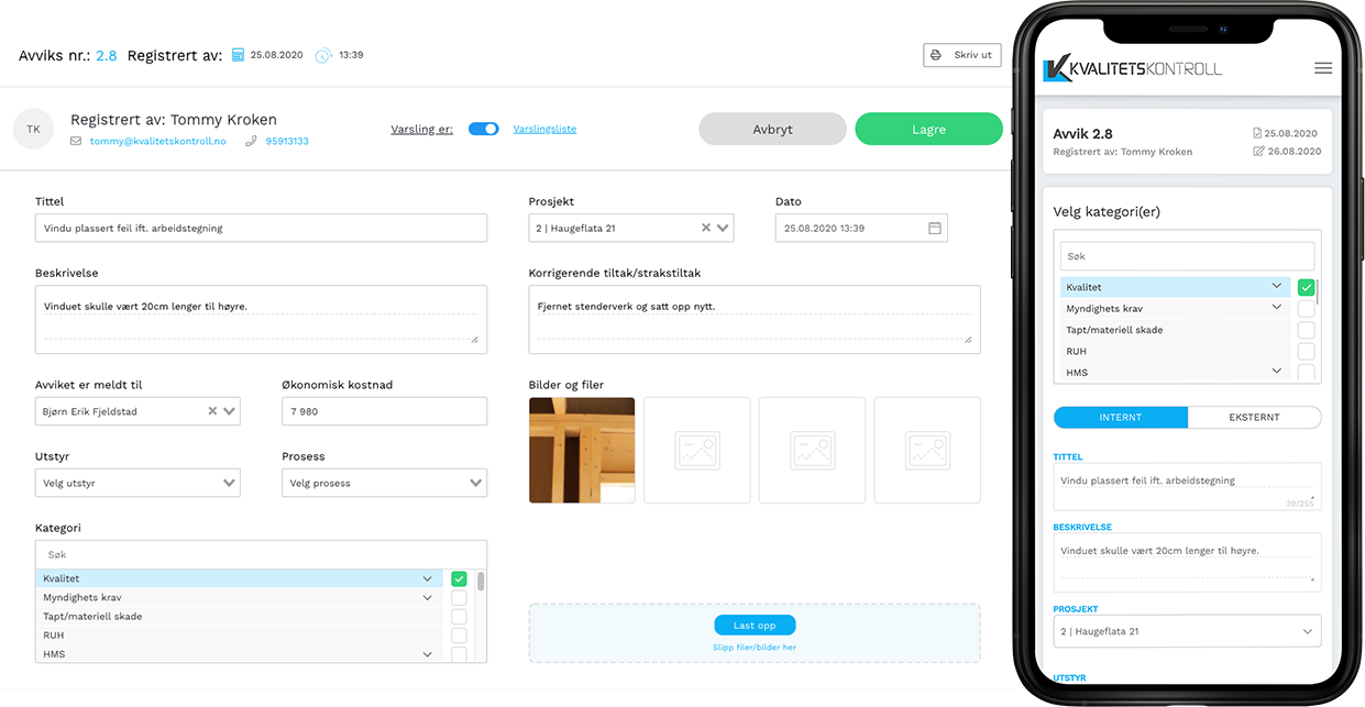 Avviks-registrering-mobil-desktop