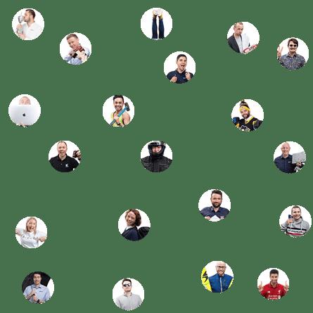 Hvem er vi - globe med ansatte